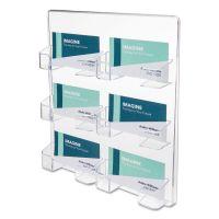deflecto 6-Pocket Business Card Holder, 480 Card Cap, 8 1/2 x 9 3/4 x 1 5/8, Clear DEF70601