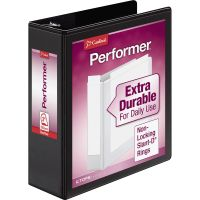 "Cardinal Performer ClearVue 3-Ring View Binder, 3"" Capacity, Slant-D Ring, Black CRD17601"
