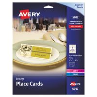 Avery Small Textured Tent Cards, Ivory, 1 7/16 x 3 3/4, 6 Cards/Sheet, 150/Box AVE5012