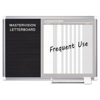 MasterVision In-Out and Notice Board, 36x24, Silver Frame BVCGA0387830