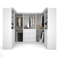 Bestar Versatile by Bestar 108'' Corner kit in White BESBES4087517