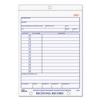 Rediform Receiving Record Book, 5 9/16 x 7 15/16, Three-Part Carbonless, 50 Sets/Book RED2L260