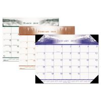 House of Doolittle Recycled One-Color Photo Monthly Desk Pad Calendar, 22 x 17, 2019 HOD140HD