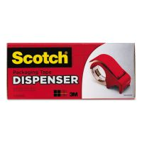 "Scotch Compact and Quick Loading Dispenser for Box Sealing Tape, 3"" Core, Plastic, Red MMMDP300RD"