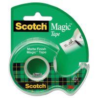 """Scotch Magic Tape in Handheld Dispenser, 3/4"""" x 300"""", 1"""" Core, Clear MMM105"""