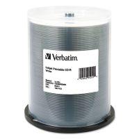 Verbatim CD-R, 700MB, 52X, White Inkjet Printable, 100/PK Spindle VER95251