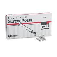 "Charles Leonard Post Binder Aluminum Screw Posts, 3/16"" Diameter, 1/2"" Long, 100/Box LEO3703L"