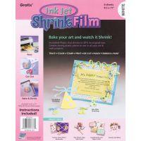 """Ink Jet Shrink Film 8.5""""X11"""" 6/Pkg NOTM246269"""