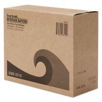 Boardwalk Office Packs Beverage Napkins, 1-Ply, 8 1/2 x 8 1/2, White, 4000/Carton BWK8318