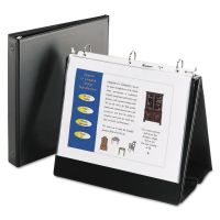 """Avery Easel Presentation Durable Binder, 1"""" Round Rings, Holds 11 x 8 1/2 Paper, Black AVE12880"""
