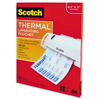Scotch Letter Size Thermal Laminating Pouches, 3 mil, 11 1/2 x 9, 100/Pack MMMTP3854100