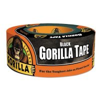 """Gorilla Glue Gorilla Tape, Extra-Thick, All-Weather Duct Tape, 1.88"""" x 12 yds, 3"""" Core, Black GOR60122"""