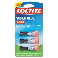 Loctite Super Glue 3-Pack, 3g, Clear LOC1710908