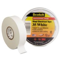 "3M Scotch 35 Vinyl Electrical Color Coding Tape, 3/4"" x 66ft, White MMM10828"