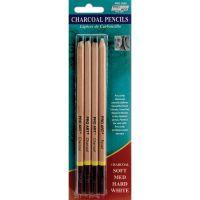 Pro Art Charcoal Pencils 4/Pkg NOTM456024