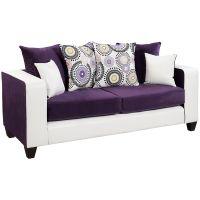 Flash Furniture Riverstone Implosion Purple Velvet Sofa FHFRS412005SGG