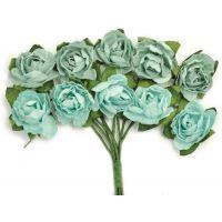 """Mini Paper Blooms .5"""" Flowers W/Wire Stems 10/Pkg NOTM272306"""