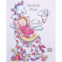 Giraffe Birth Record Counted Cross Stitch Kit NOTM471360