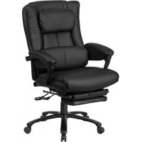 Flash Furniture High Back Black Leather Executive Reclining Swivel Chair with Lumbar Support, Comfort Coil Seat Springs and Arms FHFBT90527HGG