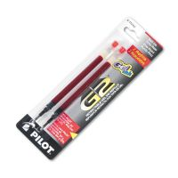 Pilot Refill for G2 Gel, Dr. Grip Gel/Ltd, ExecuGel G6, Q7, Fine Tip, Red, 2/Pack PIL77242