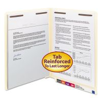 Smead End Tab Fastener Folders w/Reinforced Tab, 2 Fasteners, Letter, Manila, 50/BX SMD34115