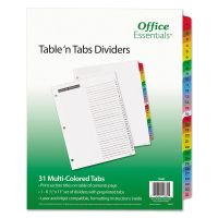 Office Essentials Table 'n Tabs Dividers, 31-Tab, Letter AVE11681