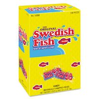 Swedish Fish Grab-and-Go Candy Snacks In Reception Box, 240-Pieces/Box CDB43146