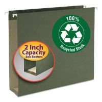 Smead Two Inch Capacity Box Bottom Hanging File Folders, Letter, Green, 25/Box SMD65090