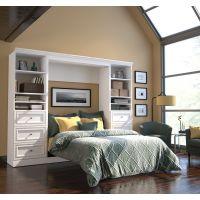 Bestar Versatile by Bestar 109'' Full Wall bed kit in White BESBES4089317