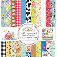 """Doodlebug Double-Sided Paper Pack 12""""X12"""" 11/Pkg NOTM369447"""