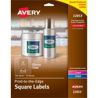 Avery&reg Easy Peel Glossy Clear Labels AVE22853