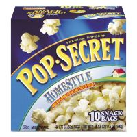 Pop Secret Microwave Popcorn, Homestyle, 1.2 oz Bags, 10/Box DFD28781