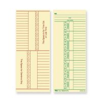 TOPS Double-Sided Weekly Time Cards TOP12603