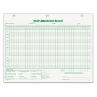 TOPS Daily Attendance Card, 8 1/2 x 11, 50 Forms TOP3284