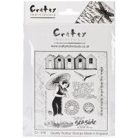 """Crafty Individuals Unmounted Rubber Stamp 4.75""""X7"""" Pkg NOTM082667"""