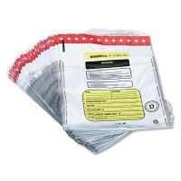 MMF Industries Tamper-Evident Deposit/Cash Bags, Plastic, 12 x 16, White, 100 Bags/Box MMF2362011N06