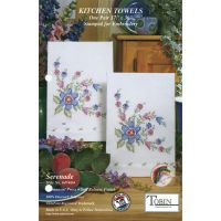 "Stamped Kitchen Towels For Embroidery 17""X30"" 2/Pkg NOTM318885"