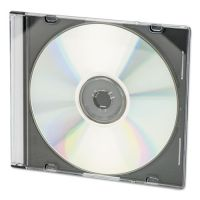 Innovera CD/DVD Slim Jewel Cases, Clear/Black, 100/Pack IVR85800