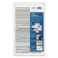 """Chartpak Press-On Vinyl Letters & Numbers, Self Adhesive, Black, 1/4""""h, 610/Pack CHA01000"""