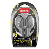 Maxell EH-131 Earhooks with Microphone, Silver MAX199635