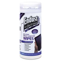 Endust for Electronics Tablet and Laptop Cleaning Wipes, Unscented, 70/Tub END12596