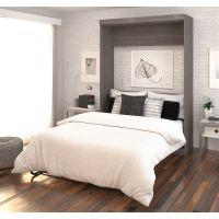 Bestar Nebula by Bestar Full Wall bed in Bark Gray & White BESBES251834717