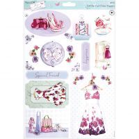 Papermania Lucy Cromwell Die-Cut Toppers A4 Sheet NOTM499680