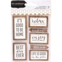 Patio Party Wood Veneer Layered Stickers NOTM366779