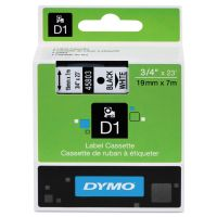"DYMO D1 High-Performance Polyester Removable Label Tape, 3/4"" x 23 ft, Black on White DYM45803"
