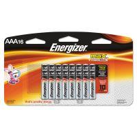 Energizer MAX Alkaline Batteries, AAA, 16 Batteries/Pack EVEE92LP16