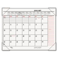 AT-A-GLANCE Two-Color Monthly Desk Pad Calendar, 22 x 17, 2019 AAGSK117000