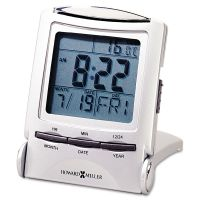 "Howard Miller Distant Time Traveler Alarm Clock, 2-1/4"", Silver, 1 AAA (incl) MIL645358"