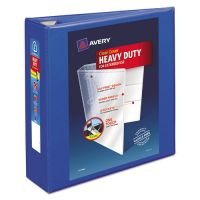 """Avery Heavy-Duty 3-Ring View Binder w/Locking EZD Rings, 3"""" Capacity, Pacific Blue AVE79811"""