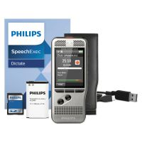 Philips Pocket Memo 6000 Digital Recorder, Push Button, 2GB, Silver PSPDPM600001